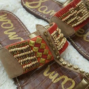 Sam Edelman Gideon Leather Beaded Sandal size 9